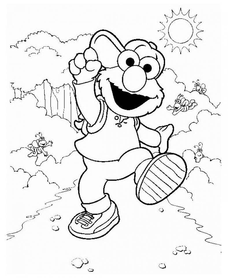 Elmo Coloring Pages for Toddlers   21759