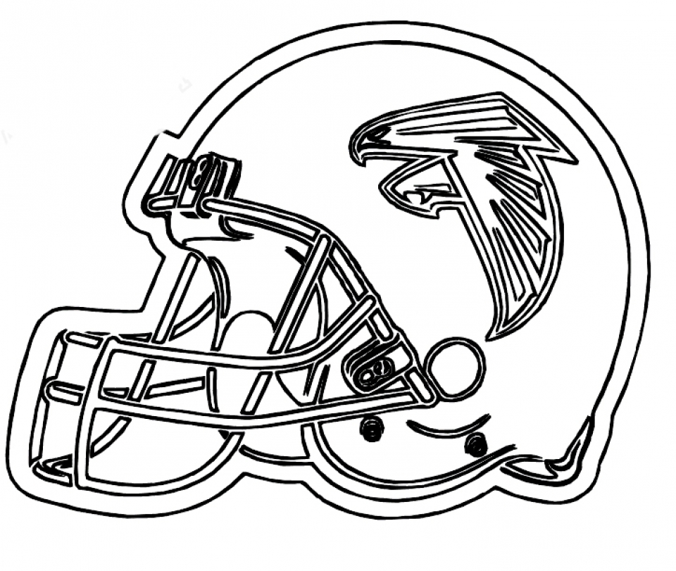 Football Helmet NFL Coloring Pages for Boys Printable   36579