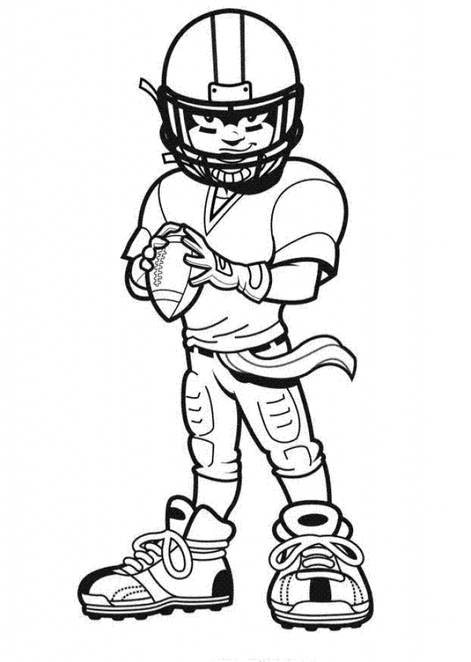 Football Player Coloring Pages to Print Online   87721