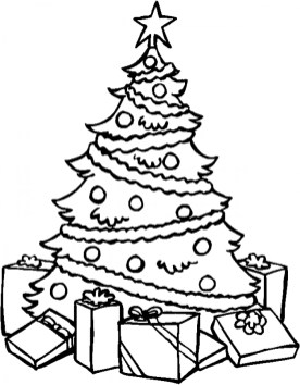 Free Christmas Tree Coloring Pages 84299