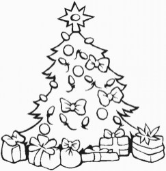 Free Christmas Tree Coloring Pages to Print 64831