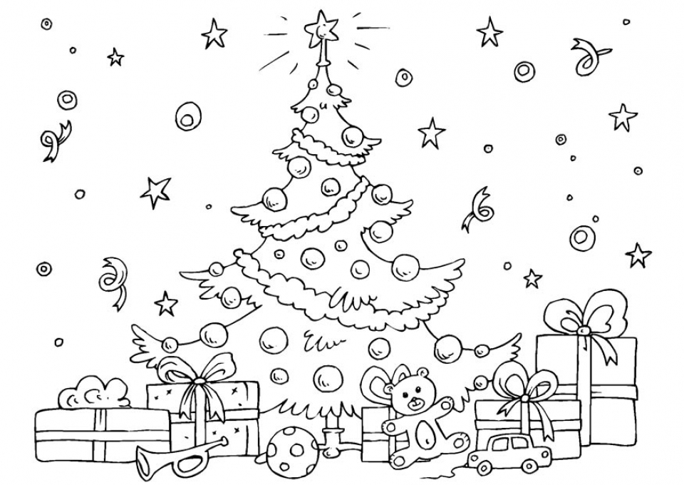 20+ Free Printable Christmas Tree Coloring Pages - EverFreeColoring.com