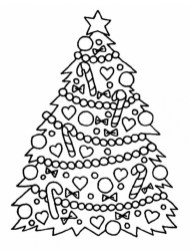 Free Christmas Tree Coloring Pages to Print 75116