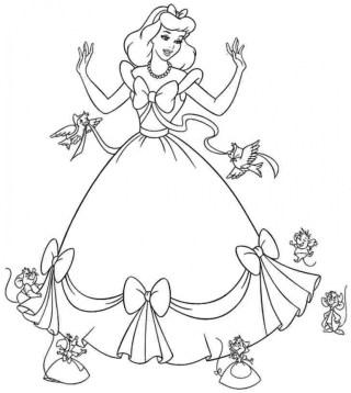 Free Cinderella Coloring Pages 56951