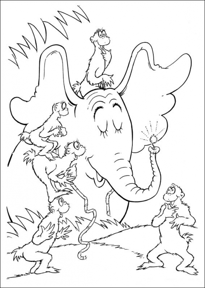 Get This Free Dr Seuss Coloring Pages 16970