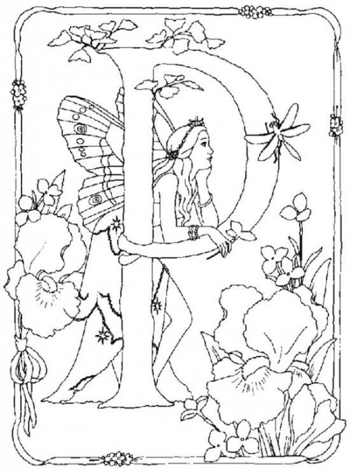 Free Fairy Coloring Pages   1865