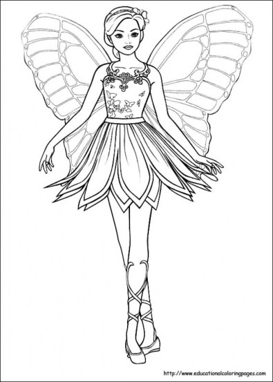 Free Fairy Coloring Pages 64670