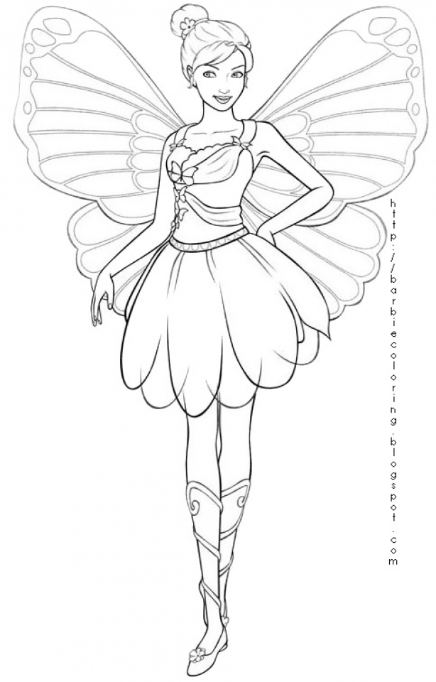 Free Fairy Coloring Pages to Print   36091