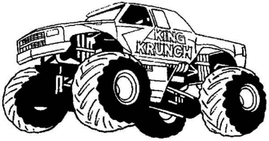 Free Monster Truck Coloring Pages 16638