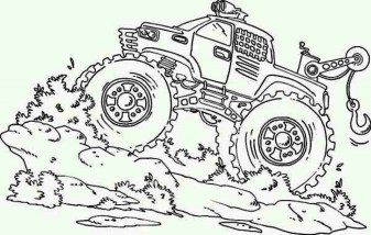 Free Monster Truck Coloring Pages to Print 67344