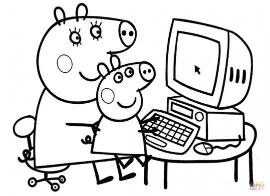 Free Peppa Pig Coloring Pages 68107