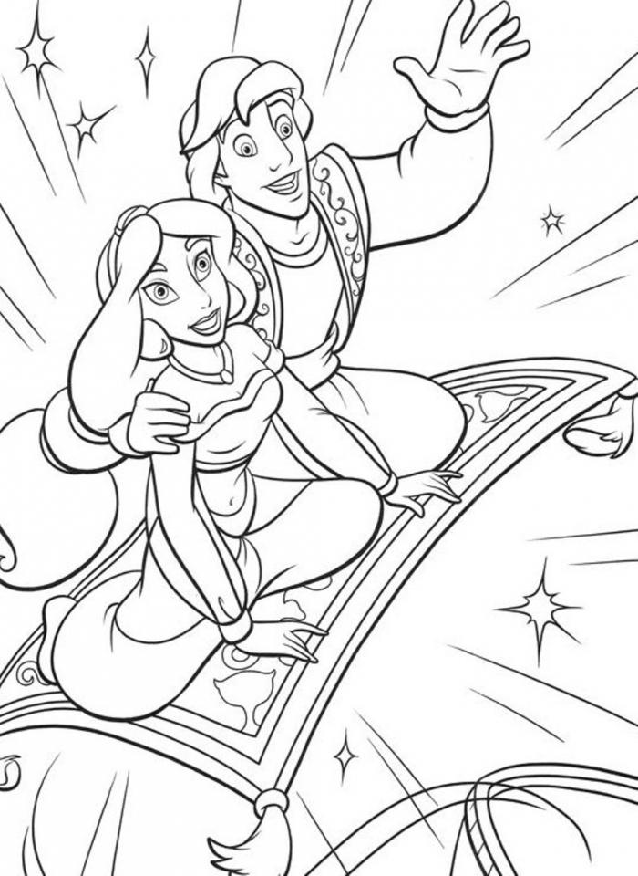 Free Printable Jasmine Coloring Pages Disney Princess   09037