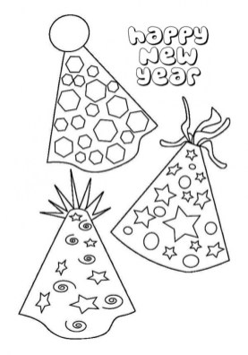 Free Printable New Years Coloring Pages Online 43902