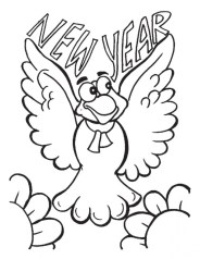Free Printable New Years Coloring Pages Online 89057