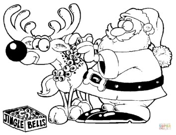 Free Reindeer Coloring Pages to Print Out 65701