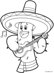 Free Simple Cinco de Mayo Coloring Pages for Children 38857