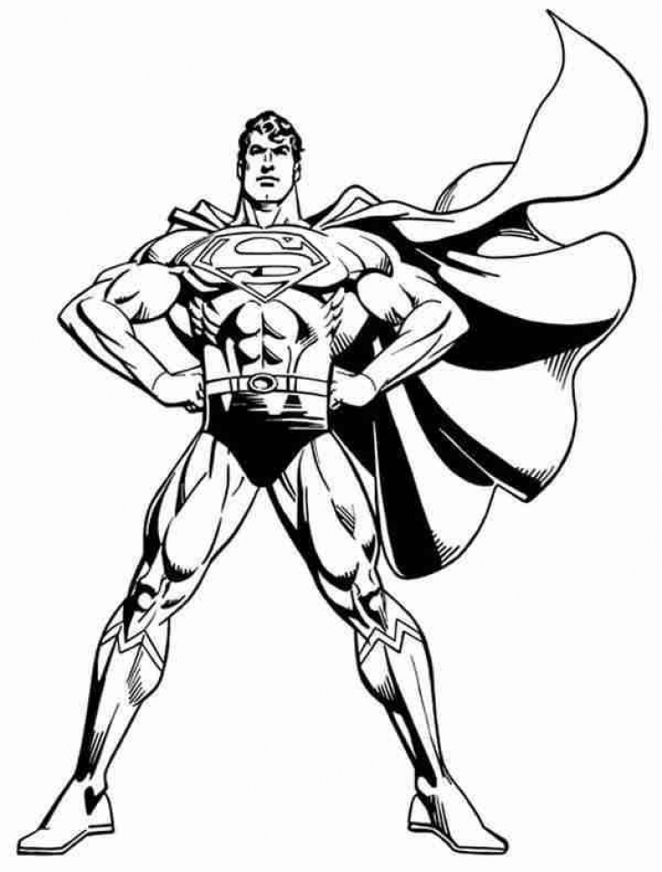 Free Superman Coloring Pages to Print   29825