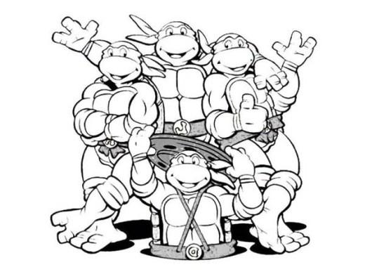 20 Free Printable Teenage Mutant Ninja Turtles Coloring Pages Everfreecoloring Com