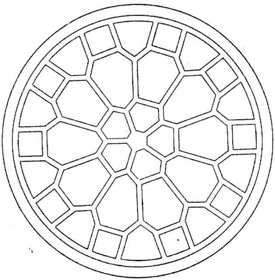 Geometric Coloring Pages Free Printable   36312