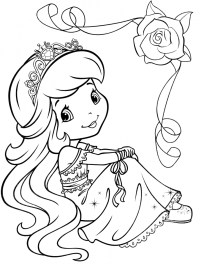 Girls Coloring Pages of Strawberry Shortcake Printable 41672