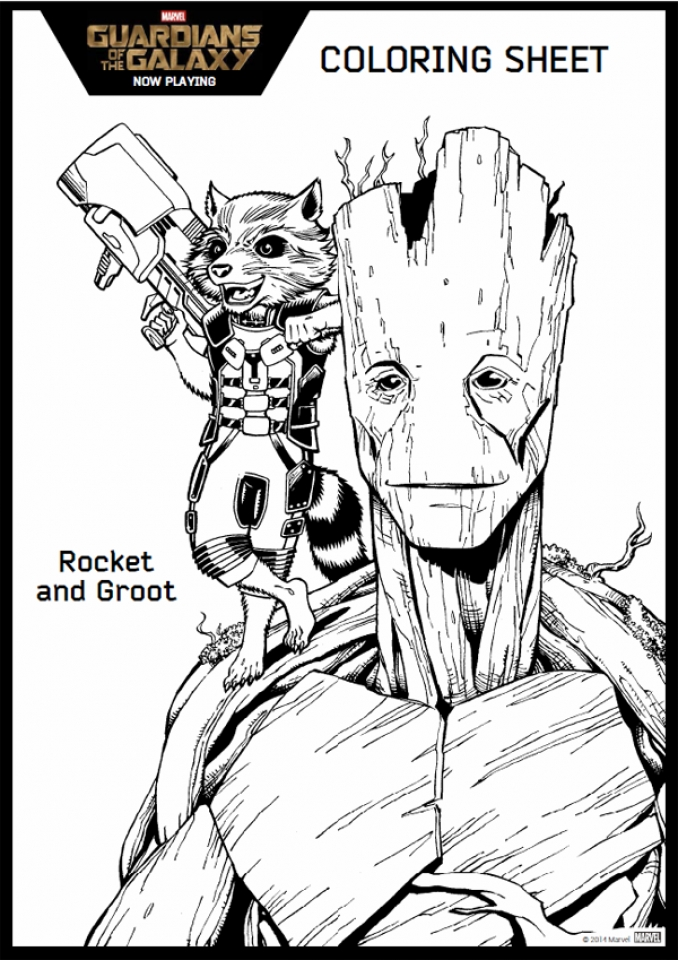 Guardians of the Galaxy Superheroes Coloring Pages Online   364801
