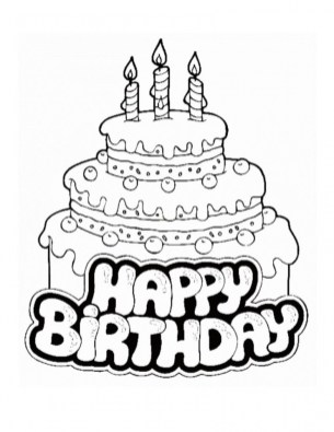 Happy Birthday Coloring Pages Free Printable 90461