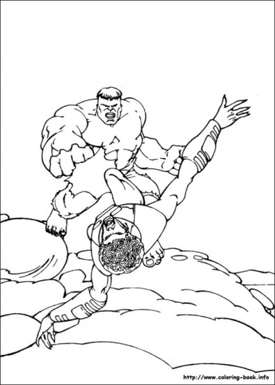 Hulk Coloring Pages Kids Printable 78592