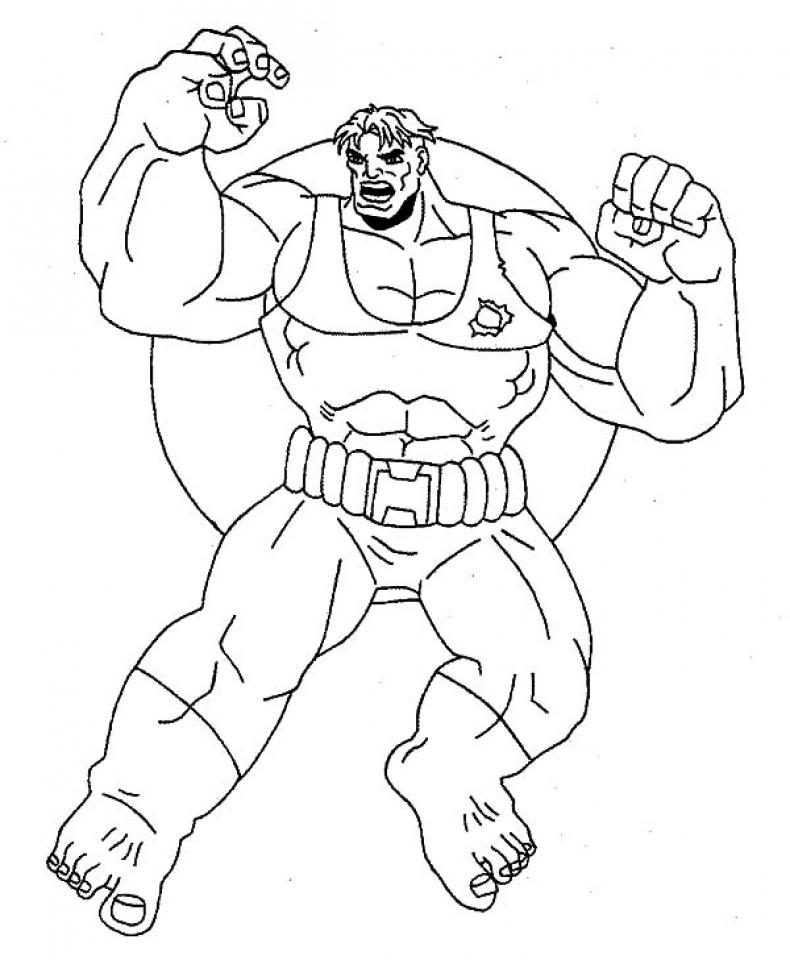 Hulk Coloring Pages Kids Printable   86906