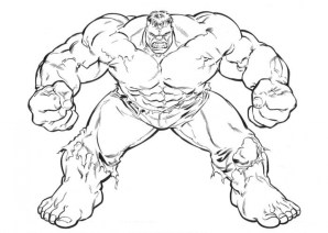 Hulk Coloring Pages Superheroes Printable 16351