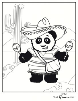 Kids Printable Cinco de Mayo Coloring Pages Holiday 02190