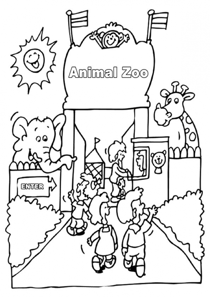 Kids Printable Zoo Coloring Pages Free   18930