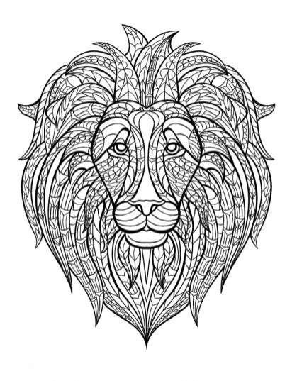 Lion Coloring Pages for Adults 26741