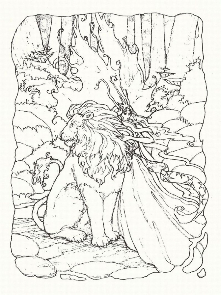 Lion Coloring Pages for Adults to Print   42664