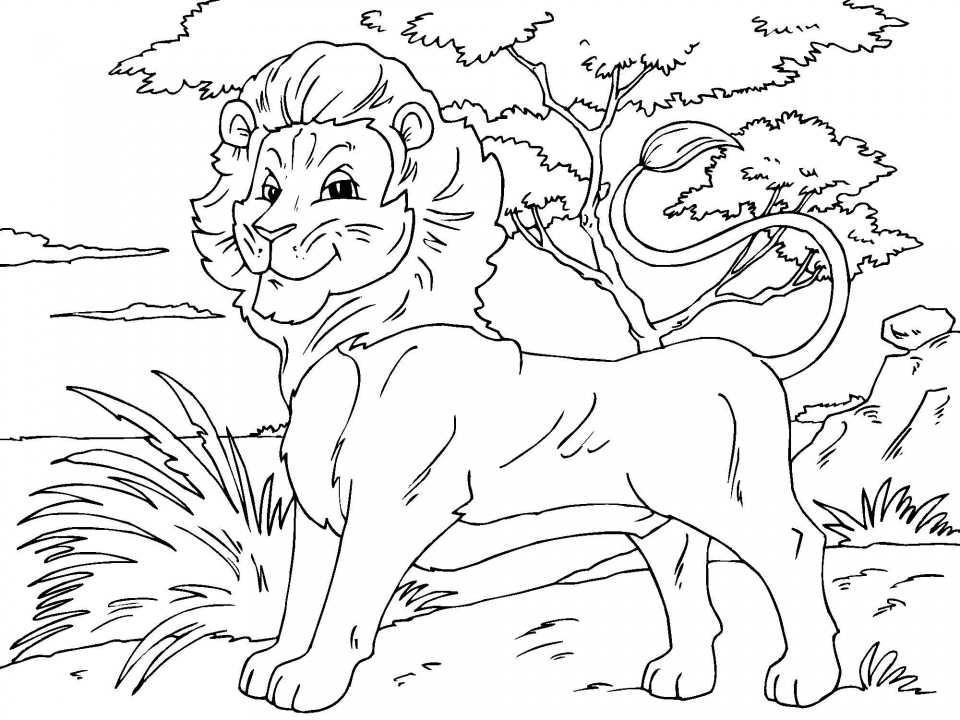 Lion Coloring Pages for Preschoolers   86446