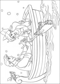 Little Mermaid Coloring Pages Classic Disney Princess Free 21749