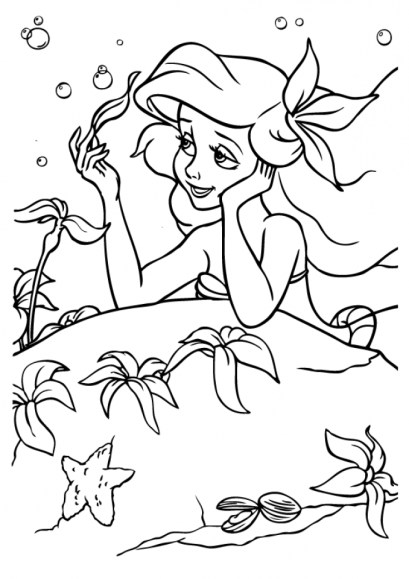 Little Mermaid Coloring Pages Classic Disney Princess Free 21785
