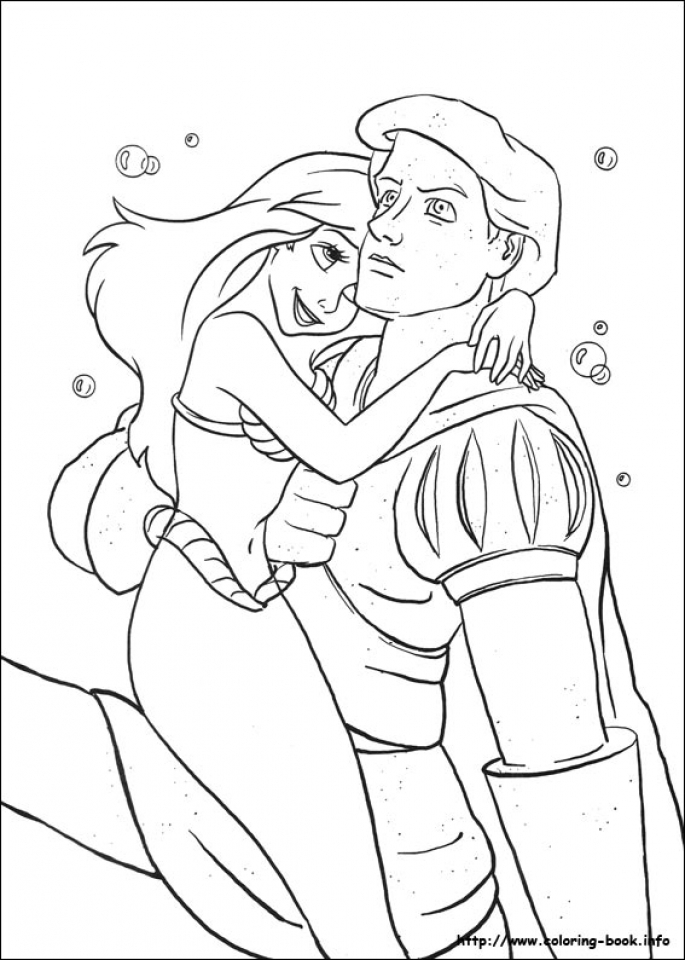 Little Mermaid Coloring Pages Disney Princess   57105