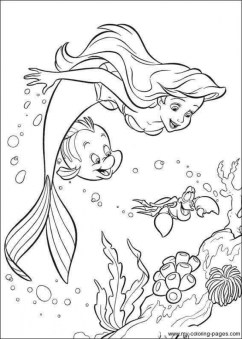 Little Mermaid Coloring Pages for Girls 21091