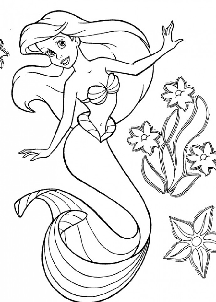 Get This Little Mermaid Coloring Pages Princess Printable ...