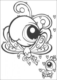 Littlest Pet Shop Cute Animals Coloring Pages for Kids 82510