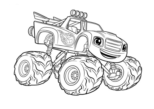 Get This monster truck coloring page free printable for kids - 27 !