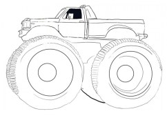 Monster Truck Coloring Pages Free Printable 40785
