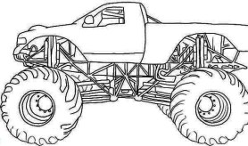 Monster Truck Coloring Pages Free Printable 64838