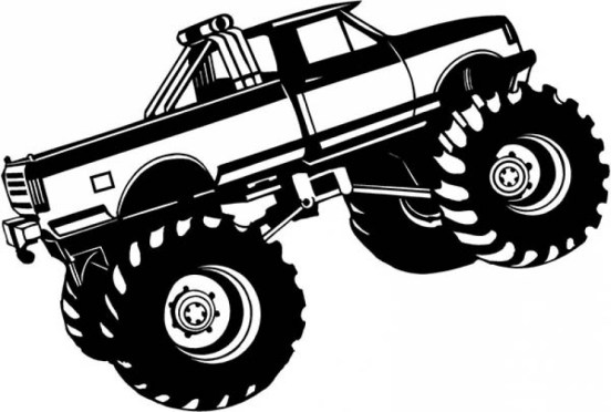 Monster Truck Coloring Pages Free Printable 70452