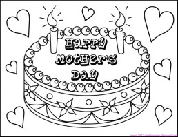 Mothers Day Coloring Pages for Kids 41702