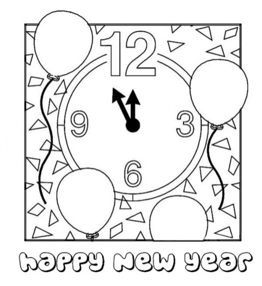 New Years Coloring Pages Free to Print for Kids 37508