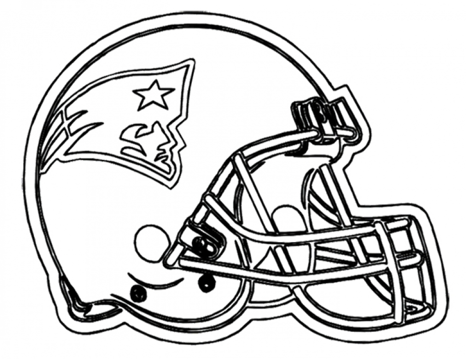 NFL Football Helmet Coloring Pages Free to Print Out   45291