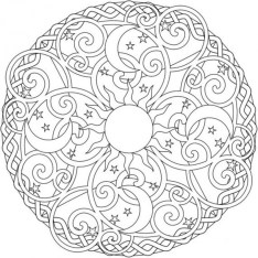 Online Abstract Coloring Pages for Grown Ups 56473