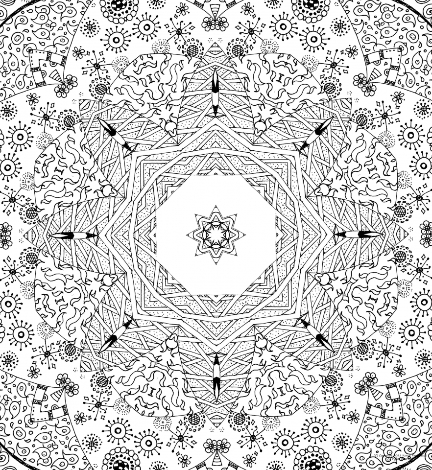 Online Abstract Coloring Pages for Grown Ups   65745