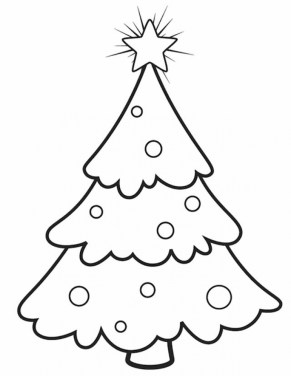 Online Christmas Tree Coloring Pages 40114